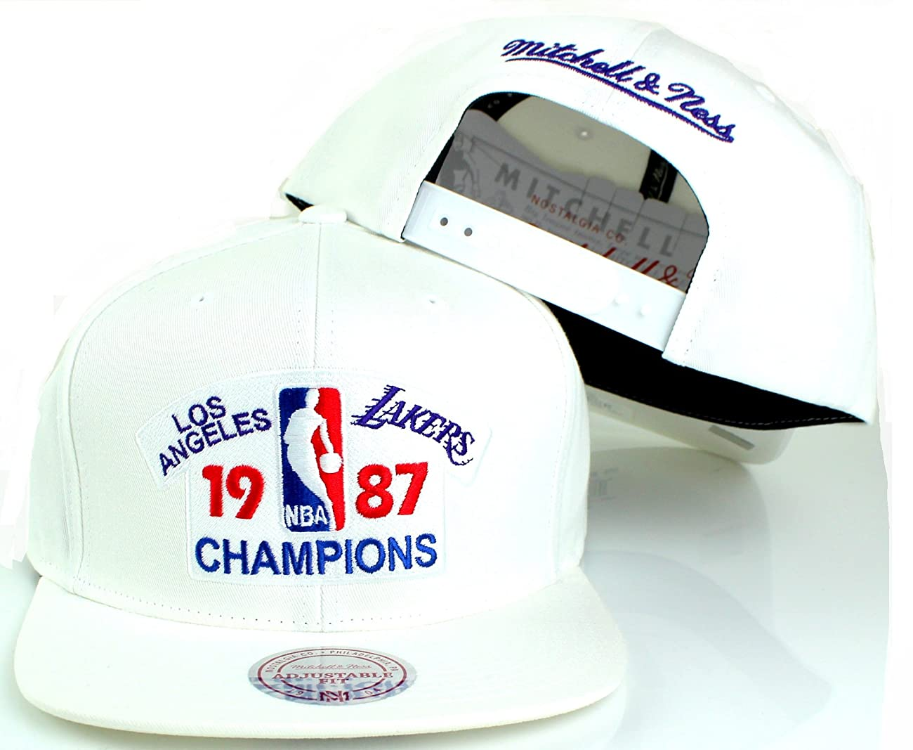 Los Angeles Lakers NBA 1987 Vintage Champions Snapback Cap - White 0