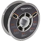 AmazonBasics Premium PLA 3D Printer Filament, 1.75mm, Black, 1 kg Spool (Color: Black, Tamaño: 1.75mm)