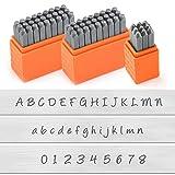 ImpressArt - Basic Bridgette Letter & Number Metal Stamp Kit - (63 Piece Punch Set) Complete Set of 3 - Uppercase/Lowercase/Number - 3MM