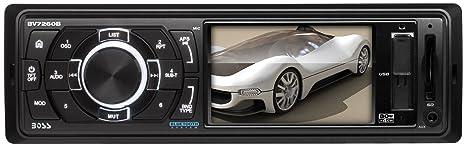 Boss Audio Bluetooth pour tableau de bord 1 Din Écran 3,2 pouces USB/SD/lecteur MP3/MP4 avec récepteur et télécommande Kit mains libres