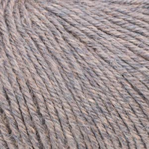 100% Baby Alpaca Yarn (Weight #3) DK - Set of 3 - AndeanSun - Luxuriously Soft for Knitting, Crocheting - Great for Baby Garments, Scarves, Hats, and Craft Projects - (Granite Rose Grey Heather) (Color: Granite Rose Grey Heather, Tamaño: #3 DK - Light)