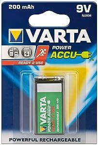 1 Varta Battery Power Accu 9V NiMH 200 mAh Ready2Use  Electrónica Más información y revisión del cliente