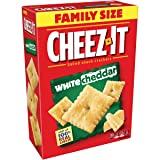 Cheez-It White Cheddar Baked Snack Cheese Crackers, Family Size, 21 Ounce Box (Pack of 3)