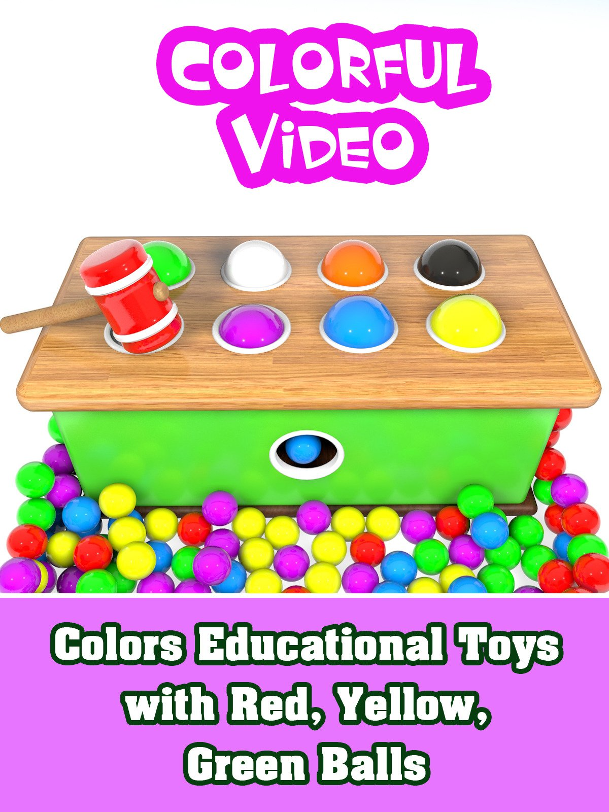 Colors Educational Toys with Red, Yellow, Green Balls