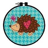 Dimensions Arts and Crafts Little Hedgehog Felt Applique Kit, 6' D