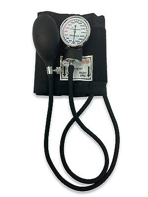 Kit de presión arterial Primacare DS-9197-BK Classic Series para adultos, con estetoscopio, color negro.