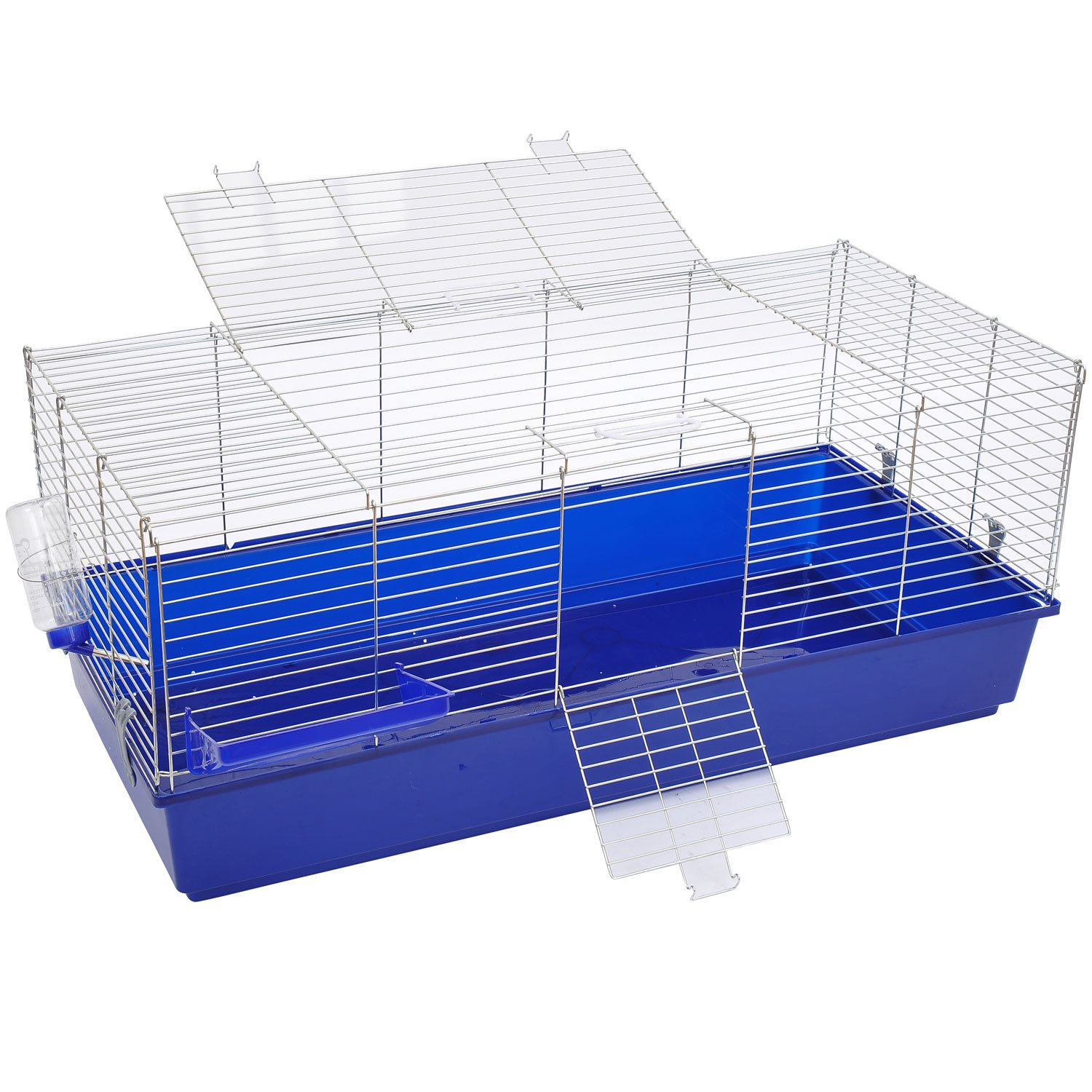 Large Rabbit Cage Guinea Pig Chinchilla Rat Hutch House Playpen Run 120(L) X 58(W) X 40(H)cm