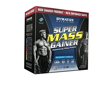 Dymatize Nutrition Super Mass Gainer, Gourmet Vanilla, 12-Pounds