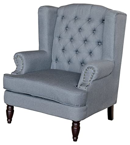 Febland Silverdale Arm Chair, Fabric, Dark Grey