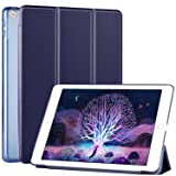 Ztotop iPad 9.7 Case 2018 iPad 6th Generation Case / 2017 iPad 5th Generation Case,Smart Ultra Slim Lightweight Trifold Stand Cover with Hard Back for ipad 9.7,Dark Blue (Color: J-Dark Blue(A1893/A1954/A1822/A1823), Tamaño: 9.7 Inch)