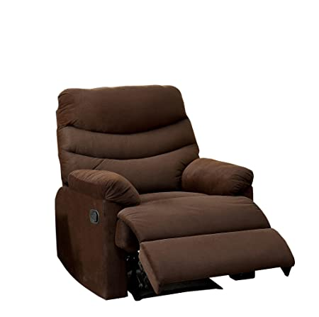 Furniture of America Valerio Flannelette Recliner, Brown