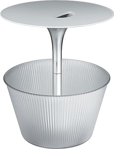 Alessi - Tavolino da soggiorno con portariviste, in metallo cromato