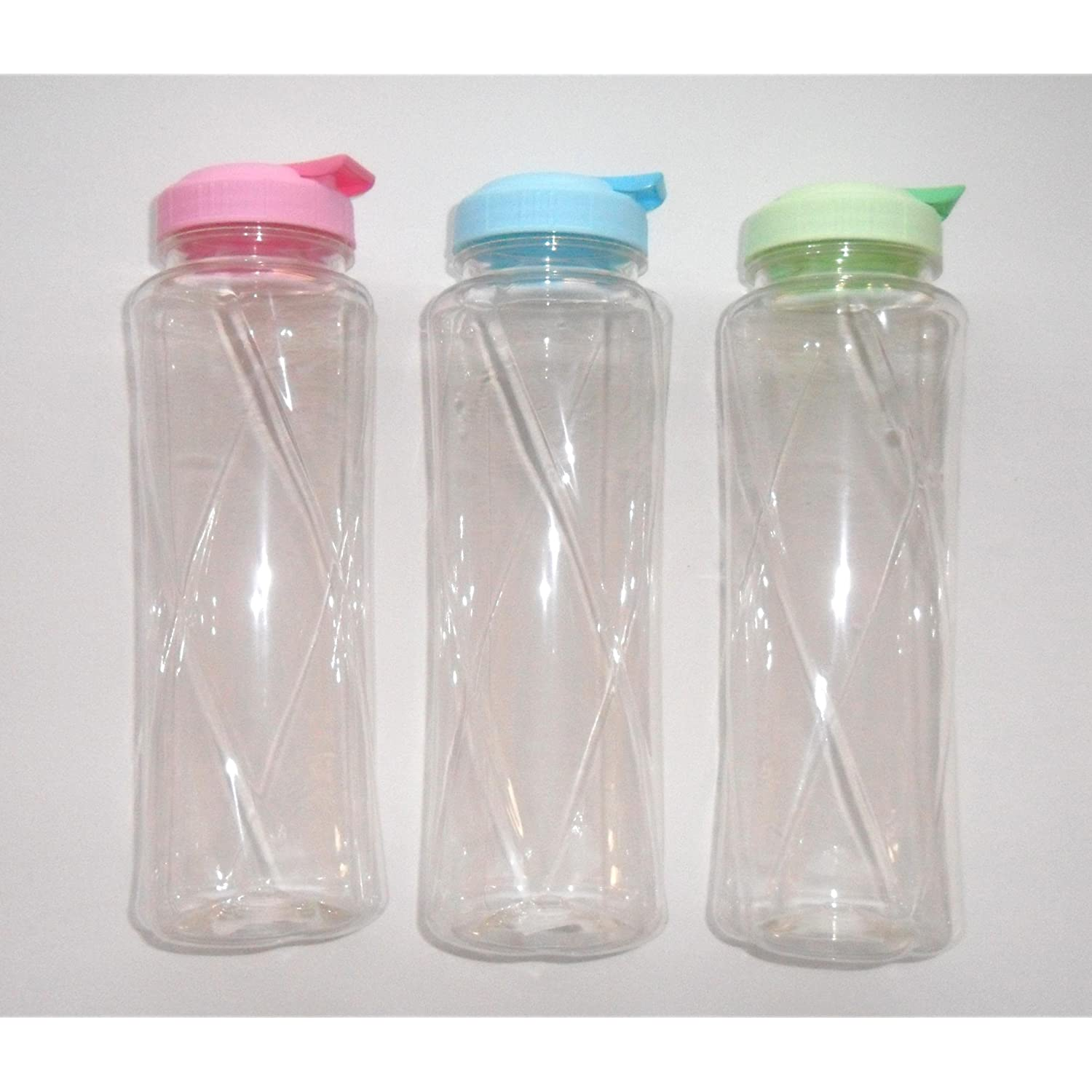 BPA Free Plastic Acrylic Tumbler Sports Water Bottle 32 oz. Set of 3 from DDHQ