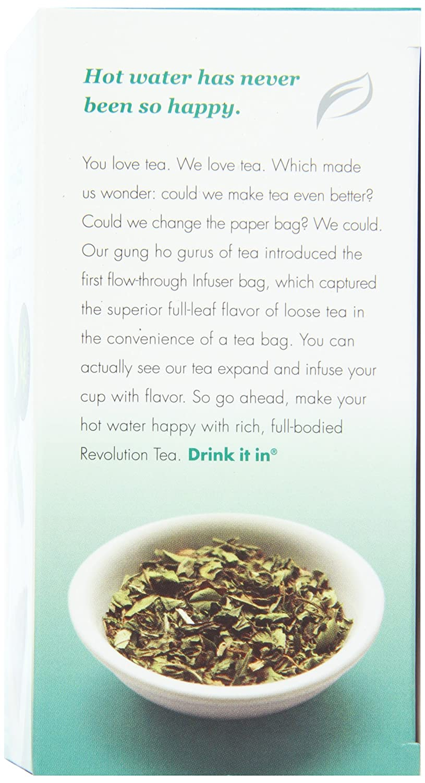 Amazon.com : Revolution Tea Southern Mint Herbal Tea, Caffeine Free, 16-Count Teabags (Pack of 6) : Green Teas