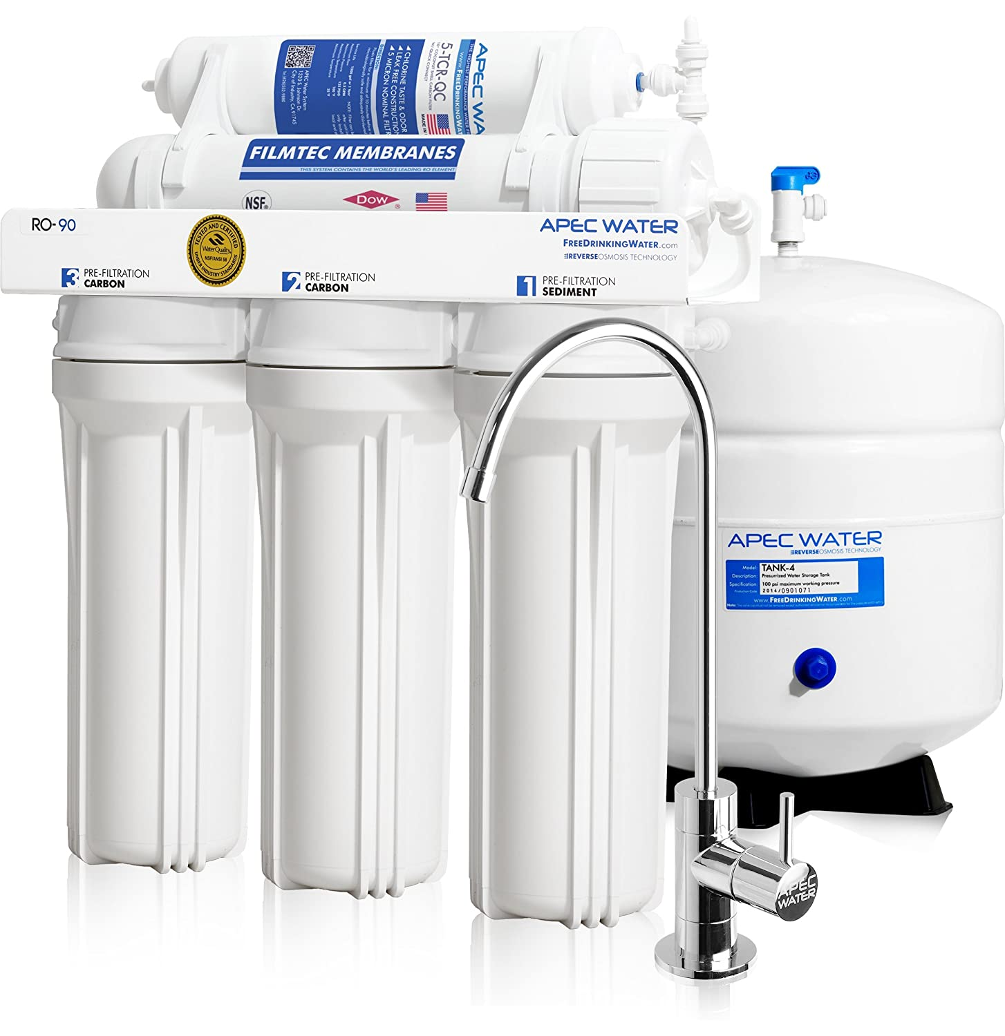 APEC Water RO-90 Reverse Osmosis Water Filter System Review