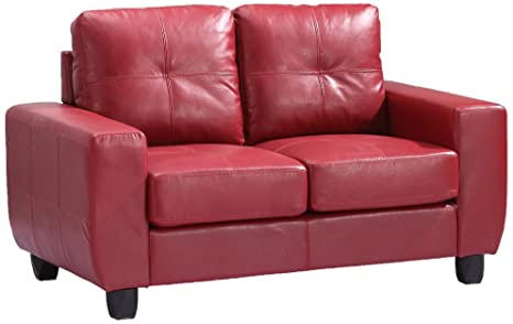 Glory Furniture G209A-L Living Room Love Seat, Red