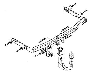Anhängerkupplung abnehmbar CITROEN C4 PICASSO II ab 2013 STEINHOF ABE