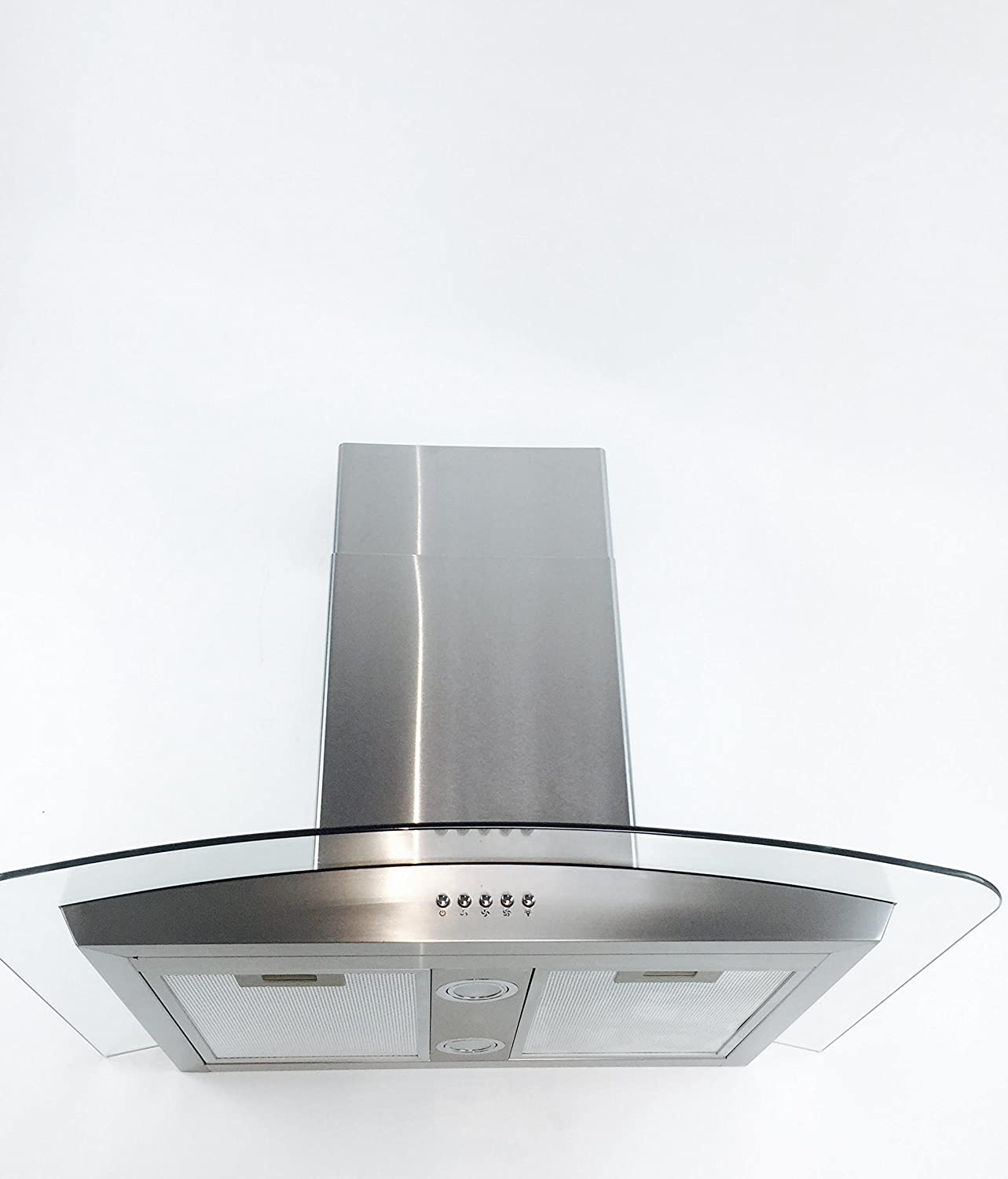 "Eureka 30"" Wall Mounted Glass Stainless Steel Range Hood Vent Hood"