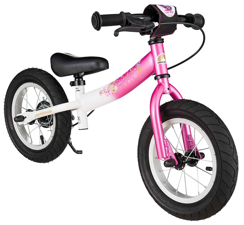BIKESTAR® Premium Sicherheits-Kinderlaufrad für modebewusste Prinzessinnen ab 3 Jahren ★ 12er Sport Edition ★ Flamingo Pink & Diamant Weiß kaufen