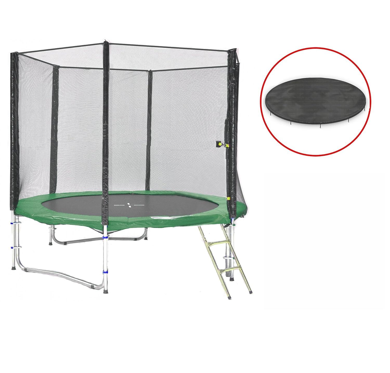 SB-245-GW Gartentrampolin 245cm incl. Netz, Leiter & Wetterplane, 150kg Traglast günstig bestellen