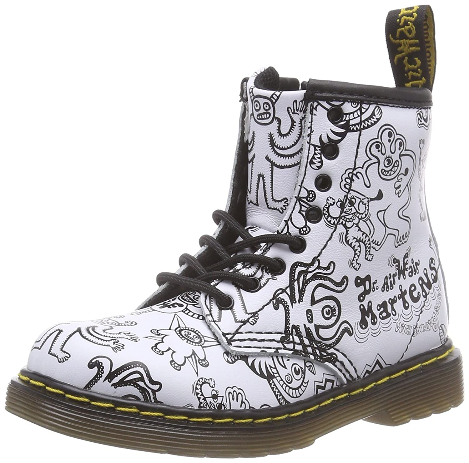 Dr. Martens BROOKLEE Wiggy World WHITE Unisex-Kinder Bootsschuhe