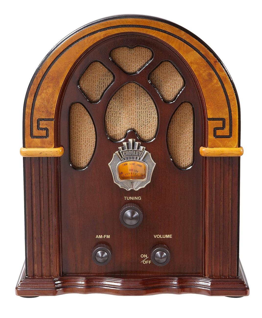 Crosley CR31-WA Companion Retro AM/FM Radio with Full-Range Speaker, Walnut & Burl 1