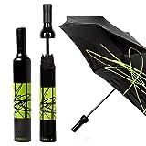Vinrella Wine Bottle Umbrellas (Artistic Black) (Color: Artistic Black)