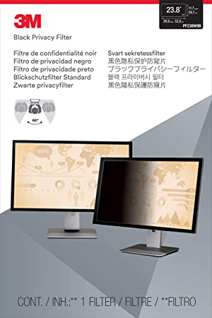 3M Privacy Filter for 23.8 Widescreen Monitor (16: 9 Aspect Ratio) (Color: Black, Tamaño: 23.8)