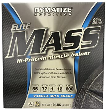 Dymatize Elite Mass, Vanilla, 1er Pack (1 x 4.54 kg)