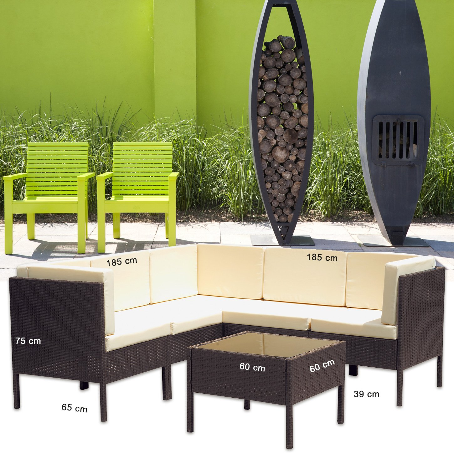 monaco polyrattan braun gartenm bel poly rattan garnitur. Black Bedroom Furniture Sets. Home Design Ideas