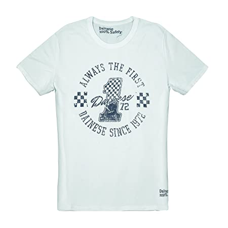 Dainese 1896393_003_XXXL The First T-Shirt, Blanc, Taille : 46