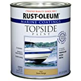 Rust-Oleum 207003 Marine Coatings Topside Paint, Quart, Sand Beige (Color: Sand Beige, Tamaño: 1 Quart)