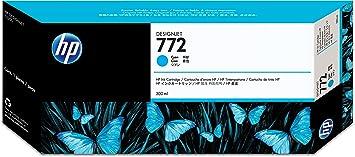 HP 772 Cartouche d'encre d'Origine 1 x Cyan