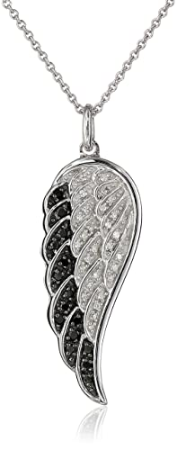 Sterling-Silver-Black-and-White-Diamond-Angel-Wing-Pendant-Necklace-1-5-cttw-18-