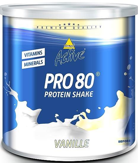 Inko Active Pro 80, Vanille, 1er Pack (1 x 750 g Dose)