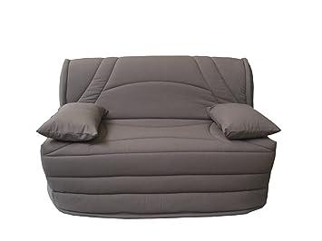 housse matelass e pour banquette b z 140 gordon uni taupe affordable xcvbnbfgh. Black Bedroom Furniture Sets. Home Design Ideas