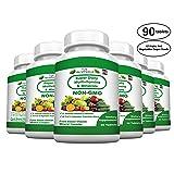 FOOD BASED Super Daily Multivitamin Supplement Tablets For Adult Men Women Seniors With 42 Natural Fruits Vegetables Blend, 21 Essential Vitamins Minerals. Boost Immune System And Energy! - 6 Bottles (Tamaño: 6 Bottles)