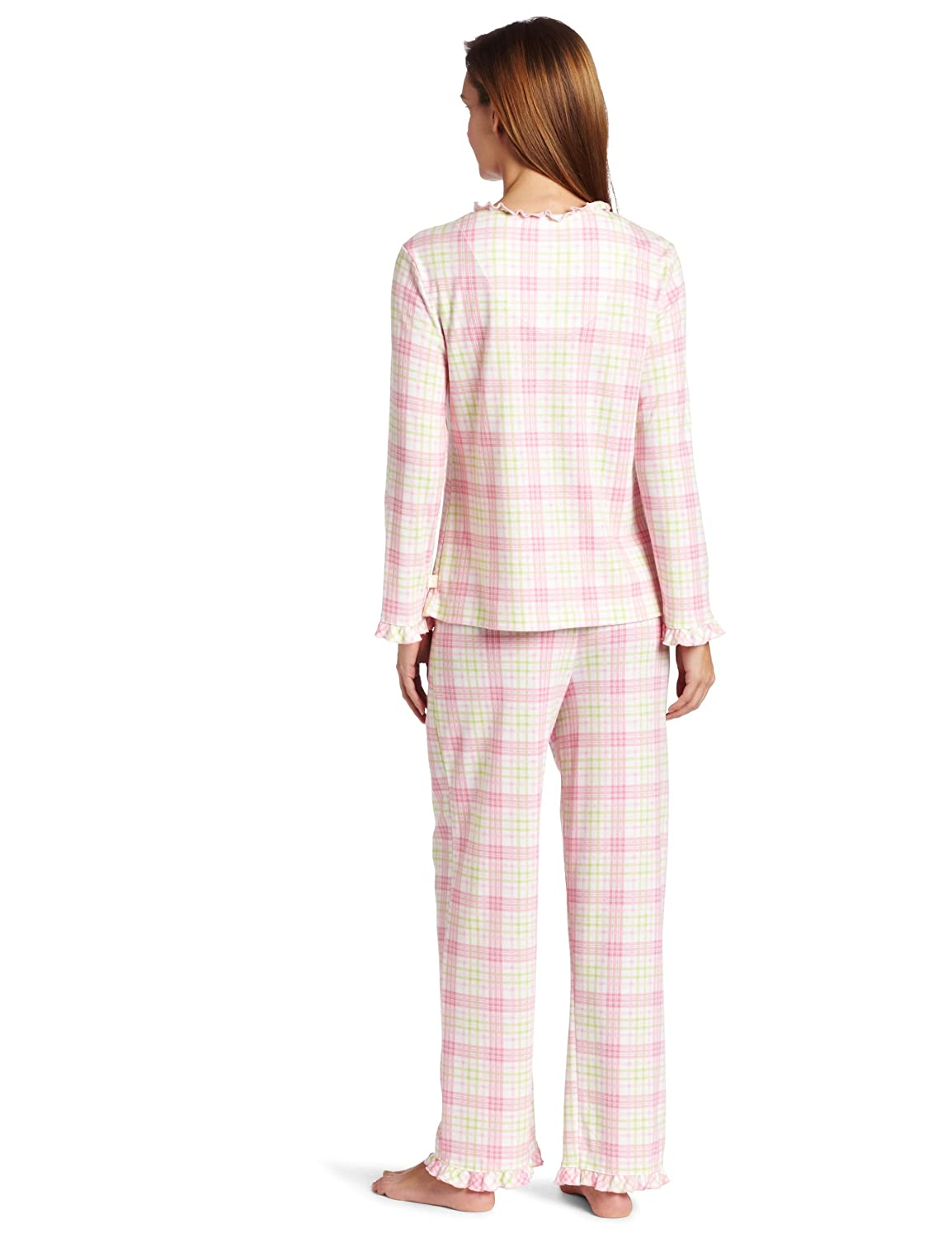 White Orchid Women's Long Sleeve Cardigan Pajama Set