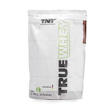 Whey Protein Konzentrat & Whey-Isolat │ Post Workout Shake - Hohe Bioverfugbarkeit und hoher Anteil an Aminosäuren │ Proteinshake zum Muskelaufbau und Abnehmen │ TNT True Whey 1000g Beutel Proteinpulver / CHOCOLATE