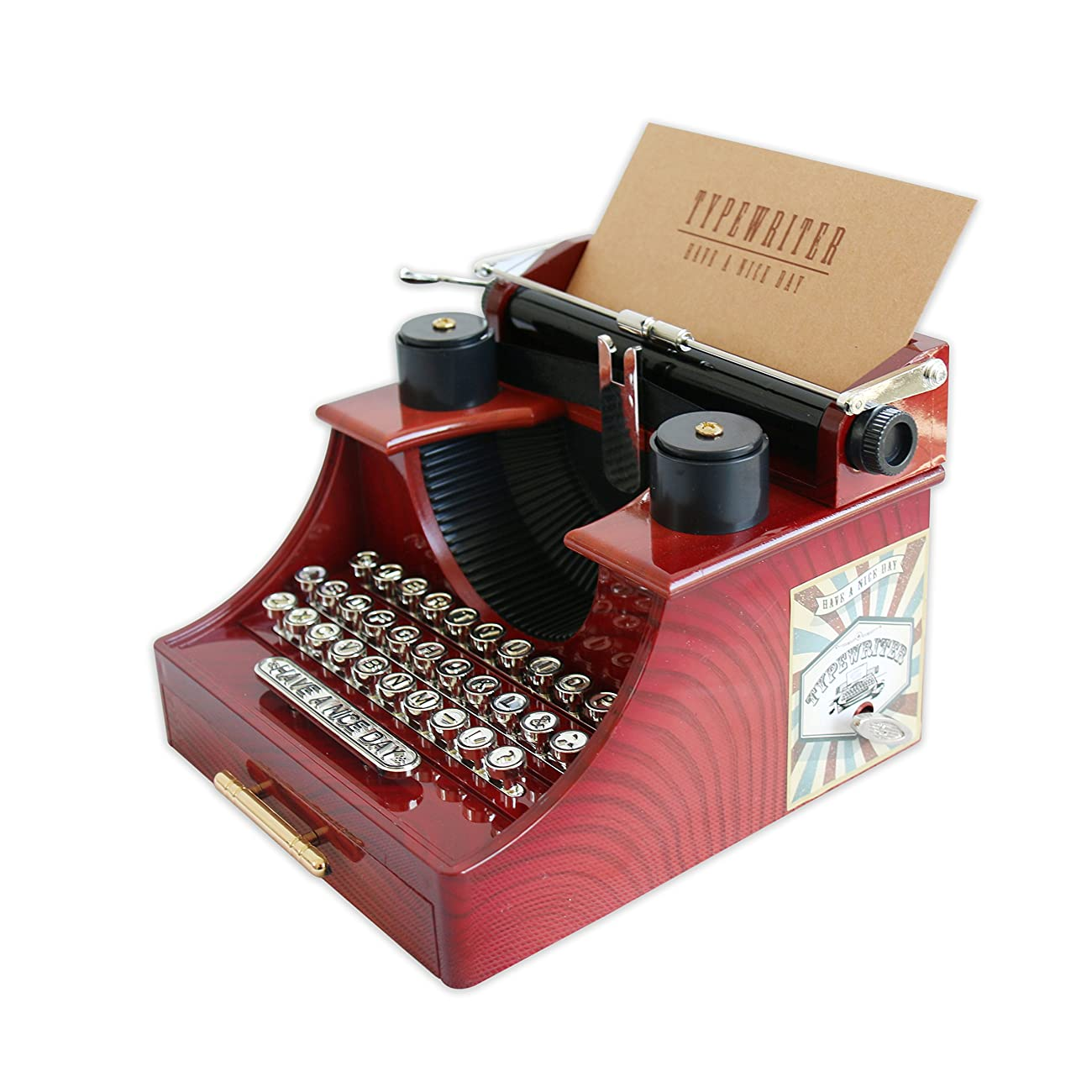 Alytimes Vintage Typewriter Music Box for Home/Office/Study Room Décor Decoration 4