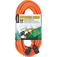 Prime Wire & Cable EC501630 50-Foot Extension Cord, Orange from ...