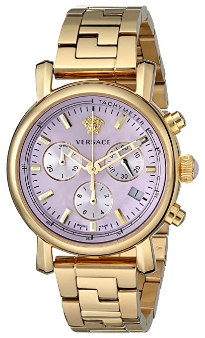 Versace Women's VLB100014 Day Glam Gold Ion-Plated Stainless Steel Watch - womens watches - watches womens - ladies watches - watches for women