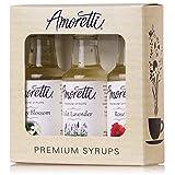 Amoretti Premium Floral Syrups 50ml 3 Pack (Rose, Violet Lavender, Orange Blossom) (Tamaño: 50ml 3 Pack)