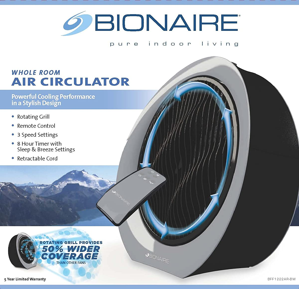 Bionaire BFF1222AR-BM Remote Control Power Fan