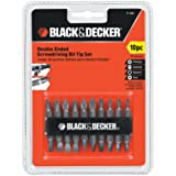 Black & Decker 71-081 Double Ended Screwdriving Bit Set, 10-Piece