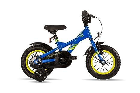s'cool XXlite 12 steel - Vélo enfant - jaune/bleu 2016