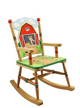 Fantasy Fields Poltrona a dondolo per bambini realizzata a mano in legno