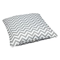 28-Inch Outdoor Pillow Large Chevron Grey