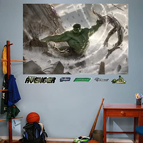 Incredible hulk wall decals tktb for Avengers wall mural amazon