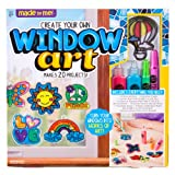 Made By Me Create Your Own Window Art by Horizon Group USA, Paint Your Own Suncatchers, Includes 12 Suncatchers & More, Assorted Colors (Renewed) (Color: Multicolor)